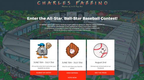 Fazzino MLB All Star Ball-Star contest