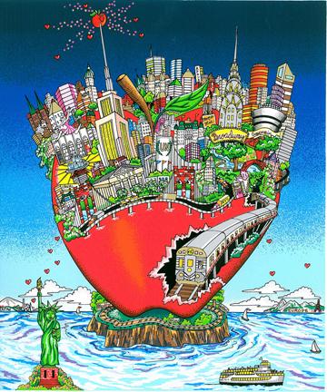 """Take a Ride Around the Big Apple"" by 3d pop artist Charles Fazzino"