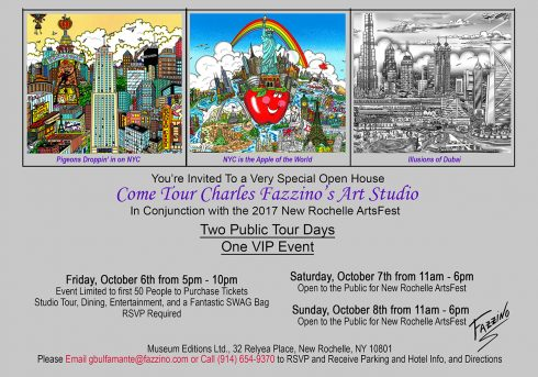 Charles Fazzino - New Rochelle Arts Fest Invitation