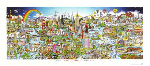 It's a Small World 3D Pop Art by Charles Fazzino