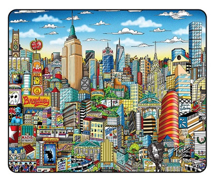 Charles Fazzino - New York City skyline mouse pad