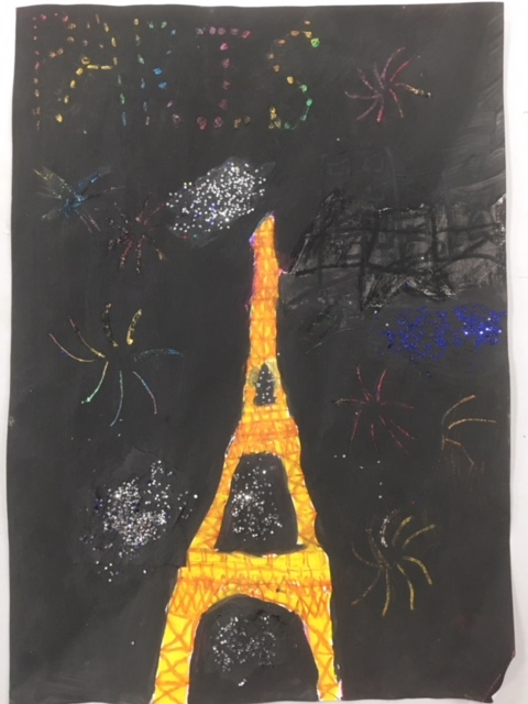 New Years Art Fazzino Challenge - Paris, France - Done by the Primary School