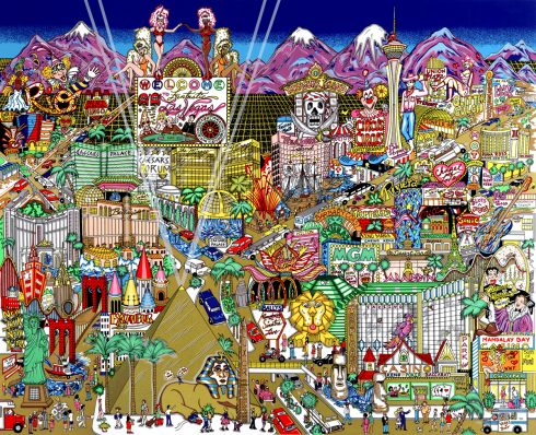 Welcome to Fabulous Las Vegas 1999 Sold Out Release by Charles Fazzino