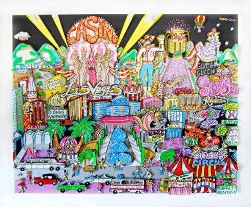 Viva Las Vegas 1990 Sold Out Release by Charles Fazzino