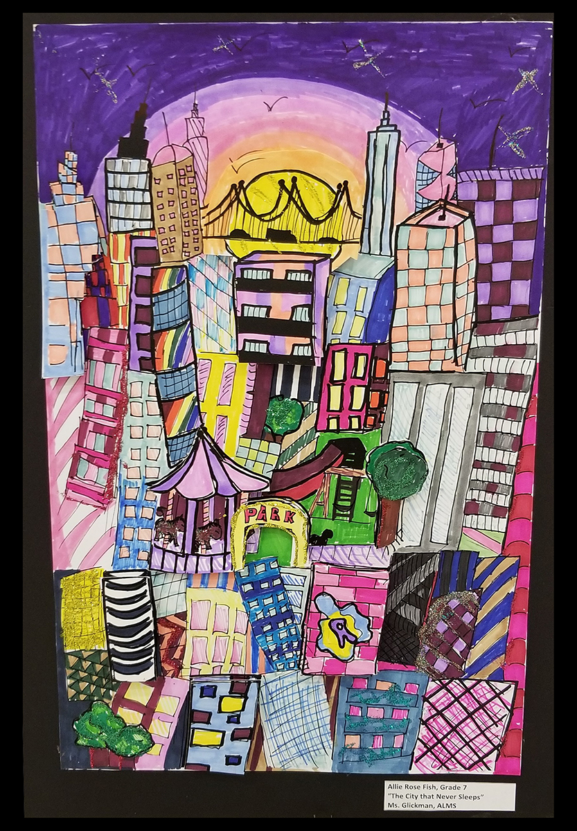 Fazzino inspired cityscape artwork at the MAC Gallery in New Rochelle