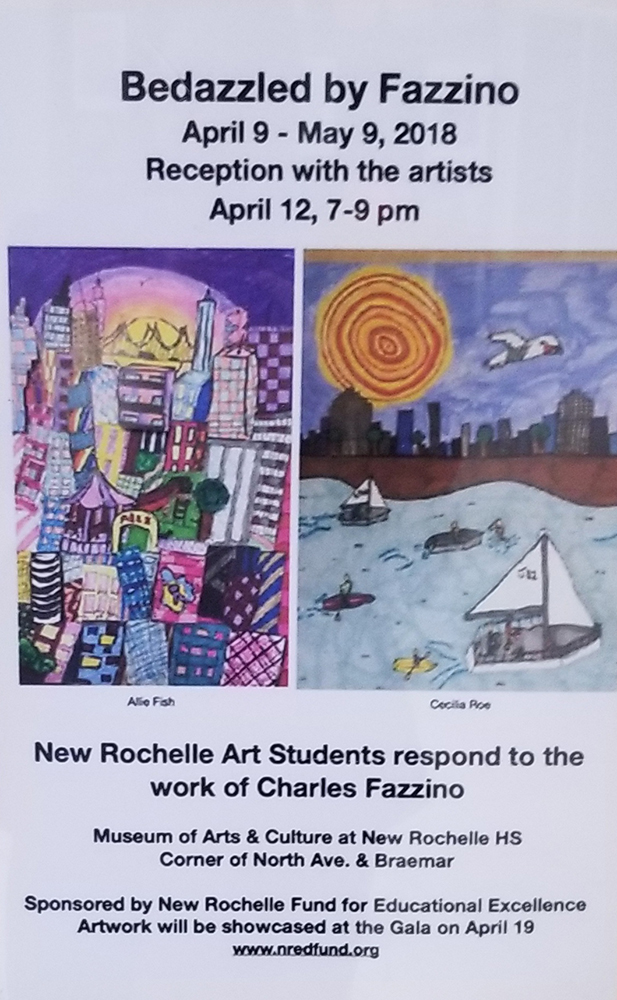 New Rochelle MAC Art Gallery Flyer featuring Charles Fazzino