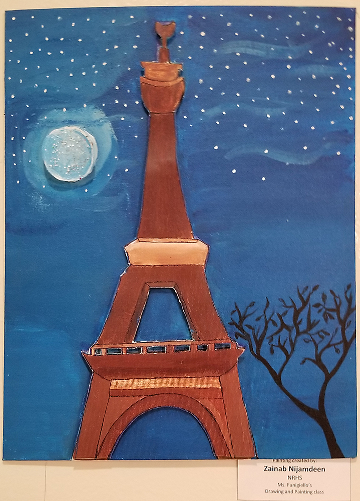 Eiffel Tower pop art piece showcased at Museum of Arts and Culture in New Rochelle