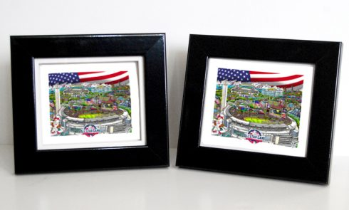 Open Edition 3D All-Star Game framed Mini Prints by Charles Fazzino