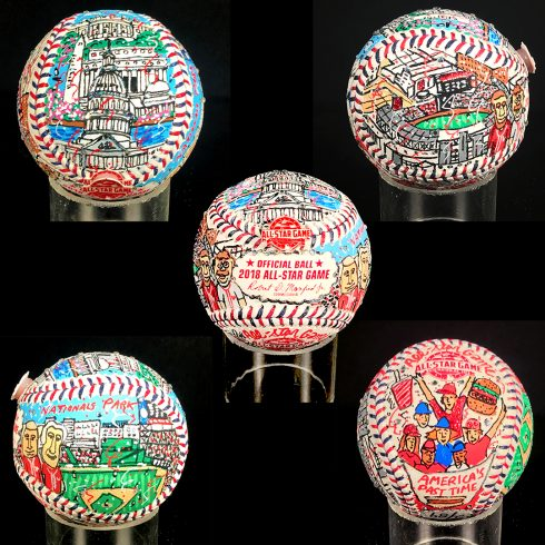 Limited Edition, Hand-Painted All-Star Game Baseballs from Fazzino