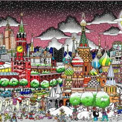 A 3D pop art about moscow