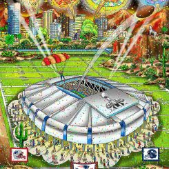 Super Bowl XLIX in Phoenix between the New England Patriots and Seattle Seahawks