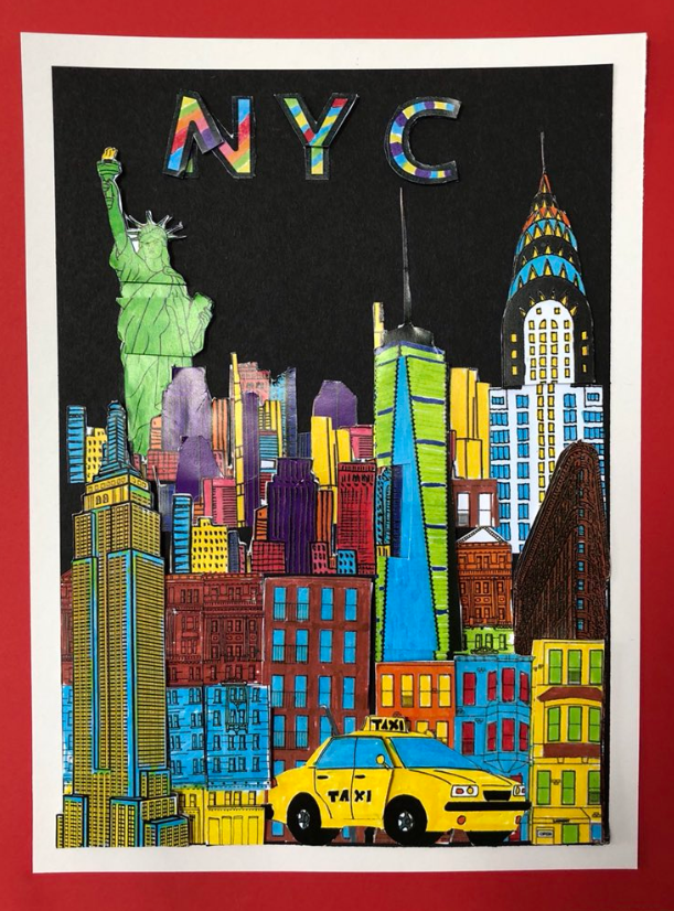 Sixpenny School artwork - New York City, Fazzino inspired 3d pop art cityscapes