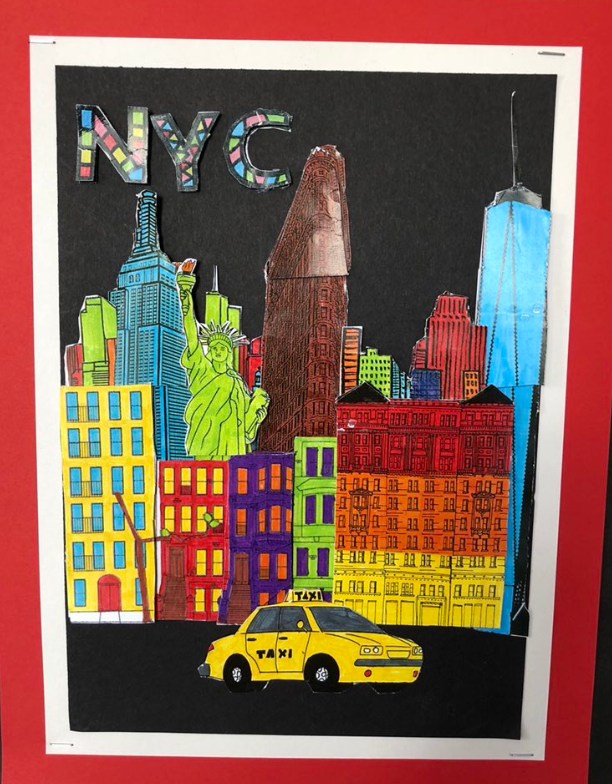 New York City inspired 3d pop art work done by Sixpenny School in United Kingdom