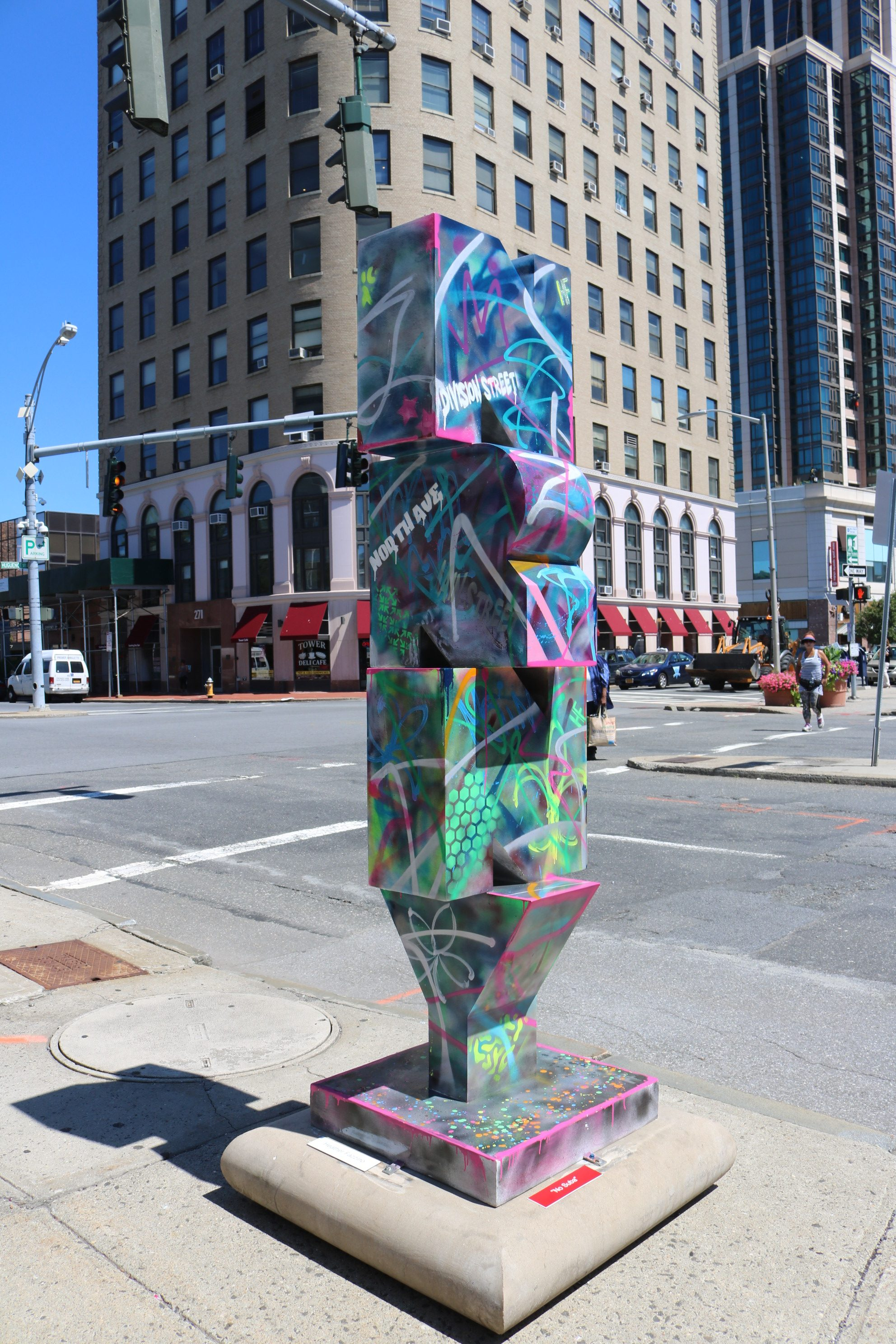 Heather Fazzino's NRNY sculpture located in New Rochelle