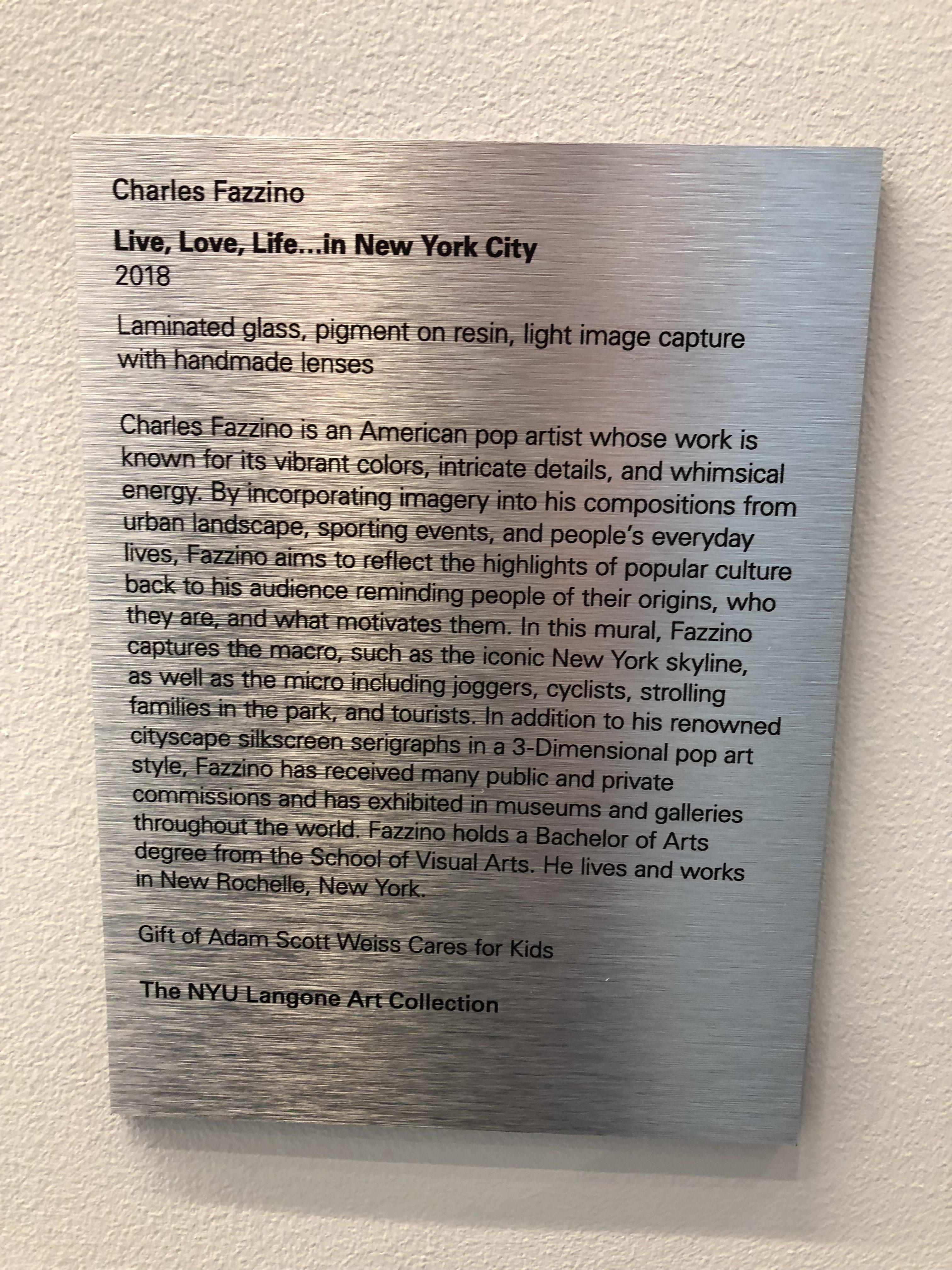 Charles Fazzino mural at NYU Langone Health