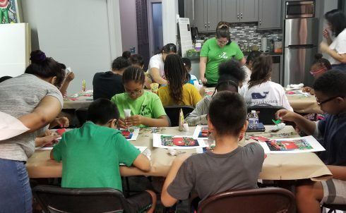 """It Takes a Village to Educate a Child"" visit to the Charles Fazzino Art Studio in New Rochelle"