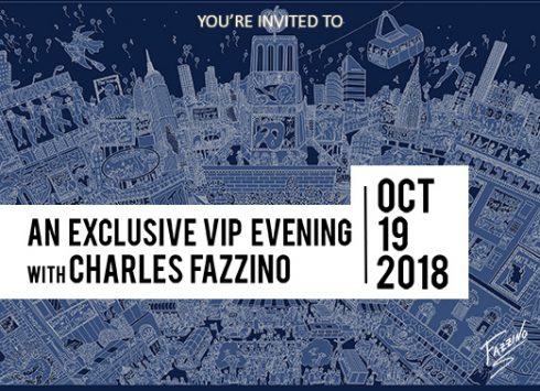 Exclusive VIP evening with Charles Fazzino banner - October 18th 2018