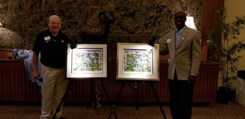 Lloyd Scher and Jimmy Black Unveil UNC National Championships Artwork by Charles Fazzino