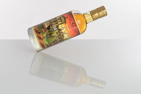 Fazzino/Sansibar Whisky collaboration - Speyside Region Malt 1973-2017, 43y, 627 bottles, Sherry Butt matured, Big Apple Label