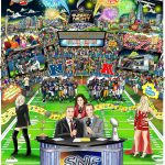 Charles Fazzino unveils artwork for Sunday Night Football on NBC