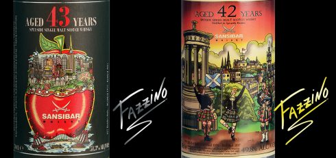 Fazzino and Sansibar Whisky collaboration labels