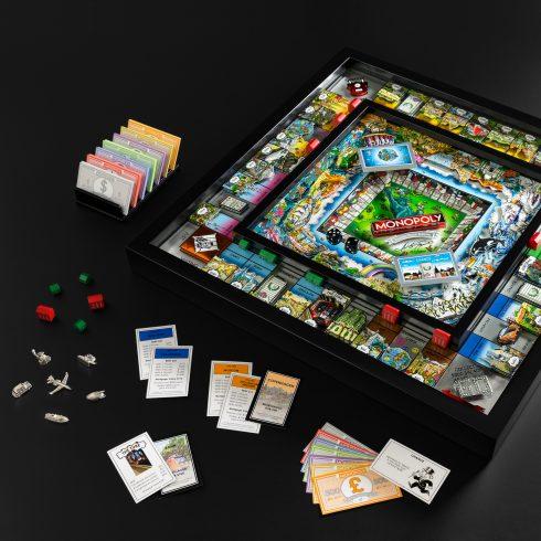 Charles Fazzino 2019 Monopoly 3d pop art set