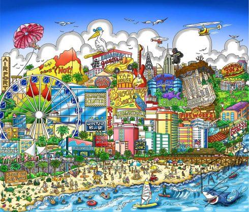 Myrtle Beach pop artwork by Charles Fazzino