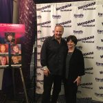 Cindy Williams and Charles Fazzino backstage at Menopause the Musical in Las Vegas