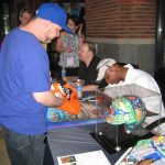 Darryl Strawberry and Charles Fazzino sign autographs at Citifield