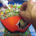 3d pop art glueing process behind the scenes of Charles Fazzino