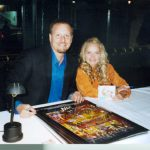Charles Fazzino signs posters with Kristin Chenoweth