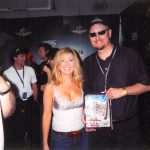 Charles Fazzino and country music superstar Lee Ann Womack at the Indianapolis 500
