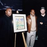 Ronde and Tiki Barber at the presentation of Charles Fazzino