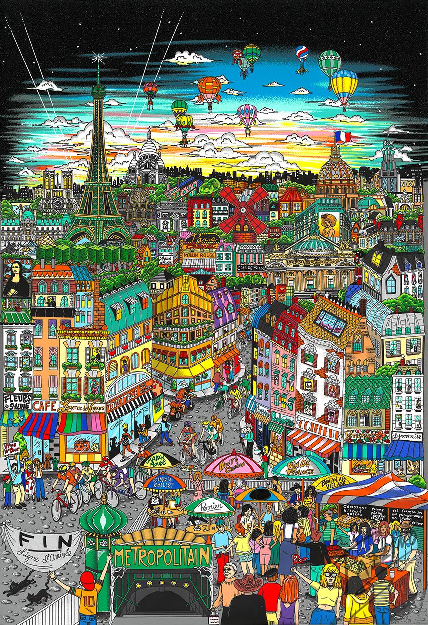 La Magnificence De Paris cityscape pop artwork by Charles Fazzino