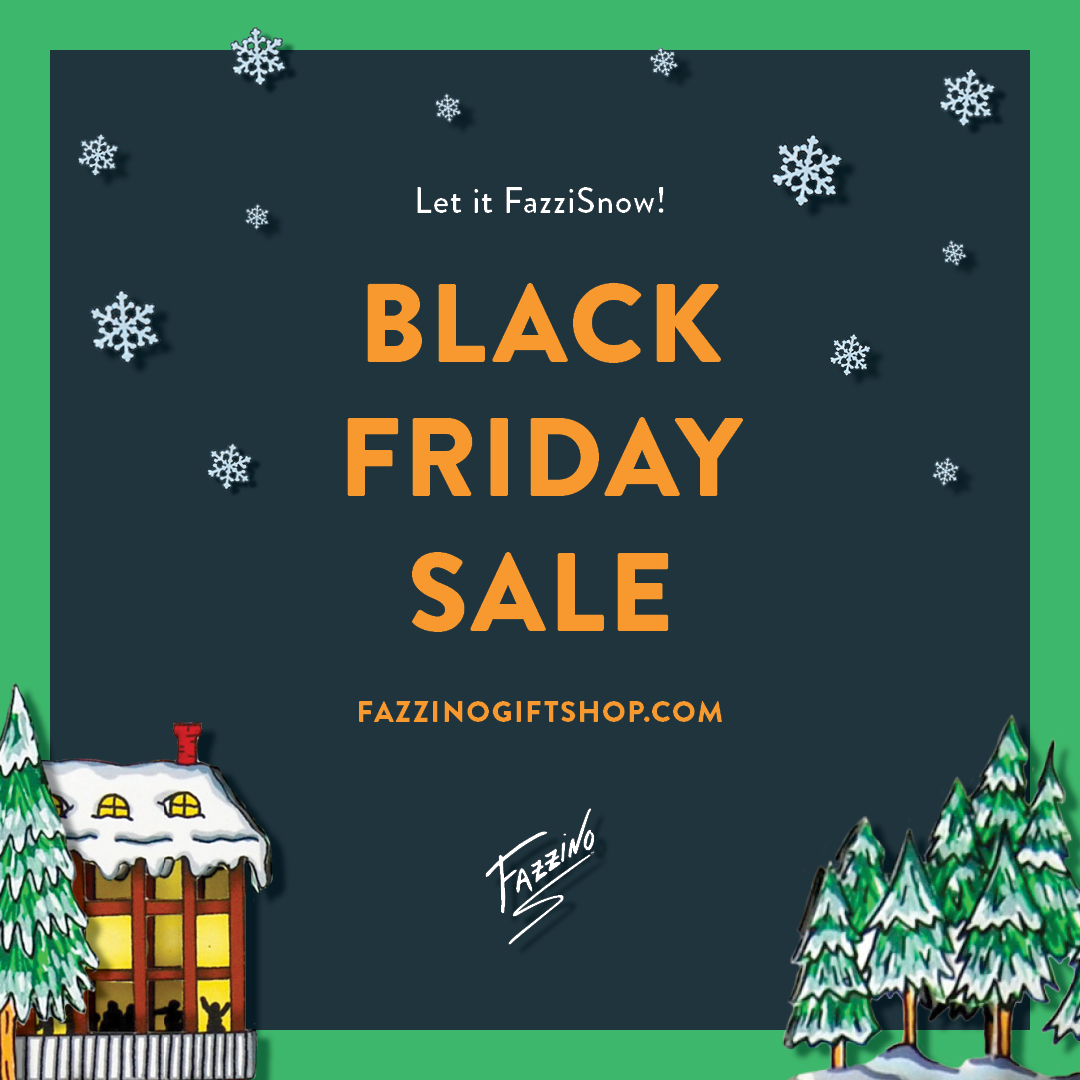 Black Friday Sale announcement for the Fazzino Gift Shop