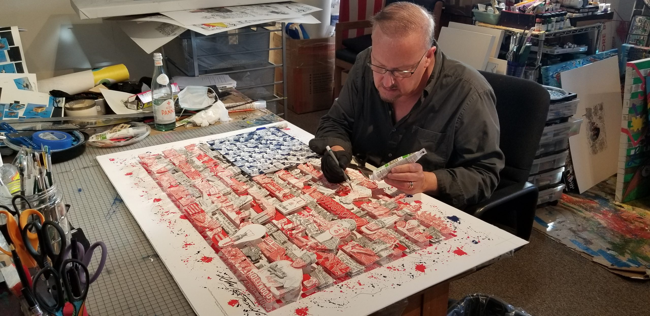 Fazzino adding two new pieces to his 2019 flag release.