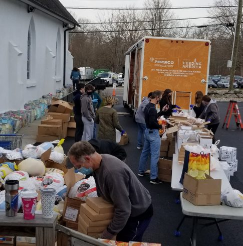Turkey donations at one of the charities