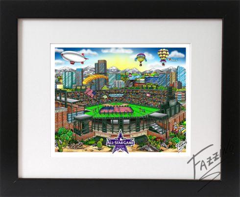 Open Edition 3D 2021 All-Star Game Mini Prints - Denver Colorado by Charles Fazzino