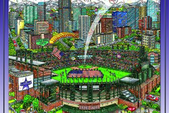 All Star Game 2021 Poster Print by Charles Fazzino