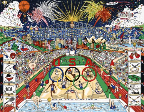 Pop artwork of the 2000 Summer Olympics in Sydney, New South Wales, Australia by Charles Fazzino